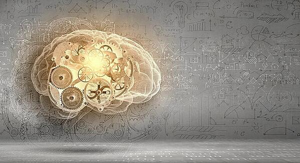 Model of human brain and cogwheel mechanism